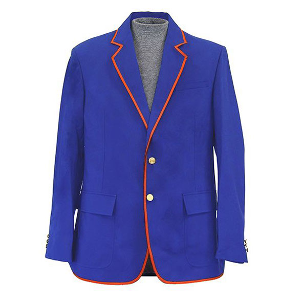 Royal Blue Blazer With Orange Trim
